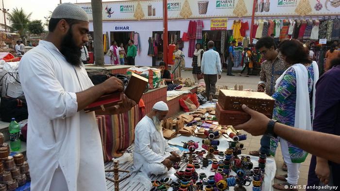 Indien Handarbeitsmesse Handwerk Handwerksmesse Kalkutta (DW/S.Bandopadhyay)