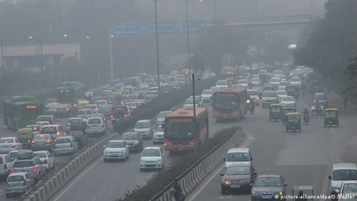 Smog Indien Neu Delhi