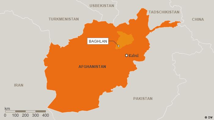 Karte Afghanistan Provinz Baghlan Deutsch