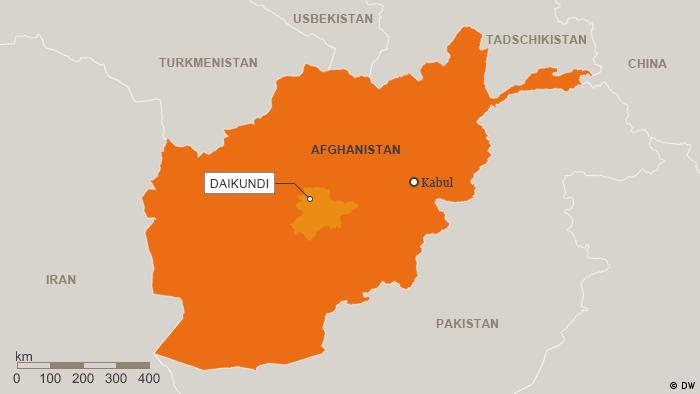 Karte Afghanistan Provinz Daikundi Deutsch