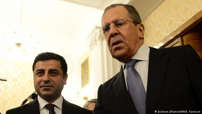 Selahattin Demirtas und Sergei Lavrov