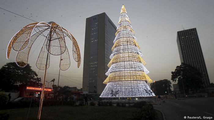 Elfenbeinküste Abidjan Weihnachtsbaum