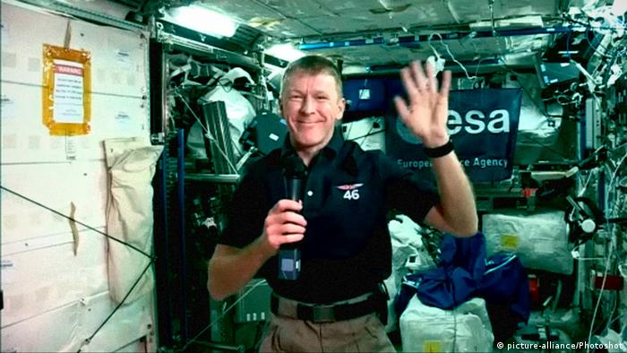 Tim Peake in space