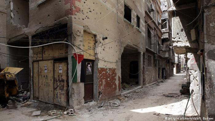 Zerstörungen im Palästinenserlager Jarmuk in Damaskus (Foto: dpa)