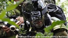 High Tech War. Copyright: Fuerzas Armadas de Colombia/Policía Nacional via Jose Ospina-Valencia, DW Spanisch