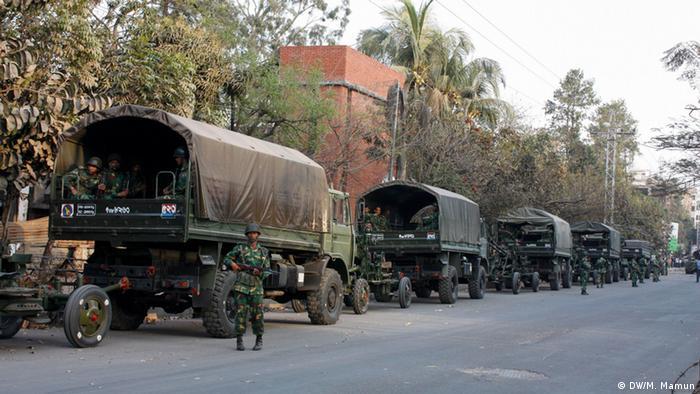 Armee Bangladesch Dhaka (DW/M. Mamun)