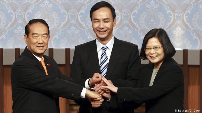Taiwan Wahlkampf TV-Debatte