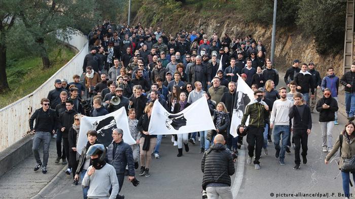 Korsika Ajaccio anti-arabische Demonstrationen