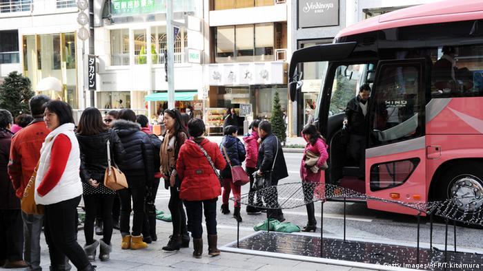 Chinesische Touristen in Tokyo Japan Touristen
