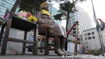 Seoul Südkorea Statue Comfort Woman vor der japanischen Botschaft