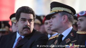 Präsident Nicolas Maduro und Vladimir Padrino Lopez