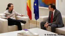 Spanien Pablo Iglesias & Mariano Rajoy