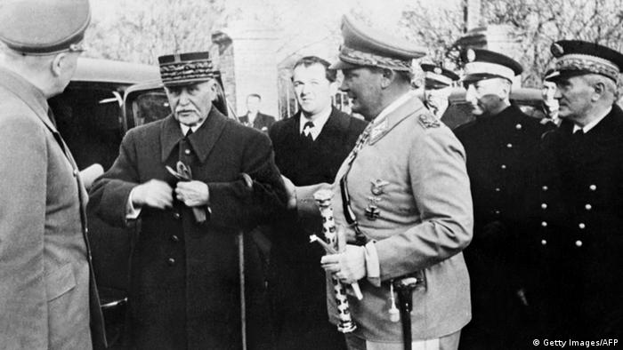 Philippe Pétain und Hermann Goering (Getty Images/AFP)