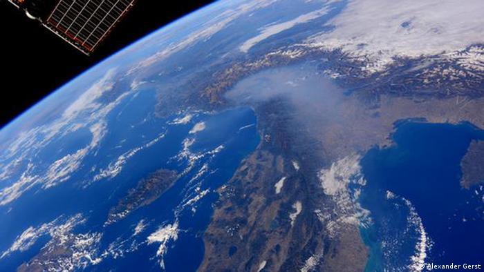 Imagen del norte de Italia desde un satélite.