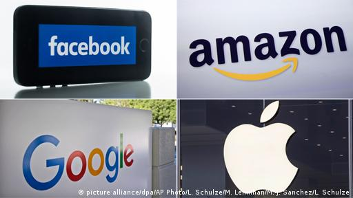 USA Internet Digital Konzerne Facebook Amazon Google Apple