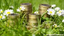 Symbolbild Geld Steuereinnahmen