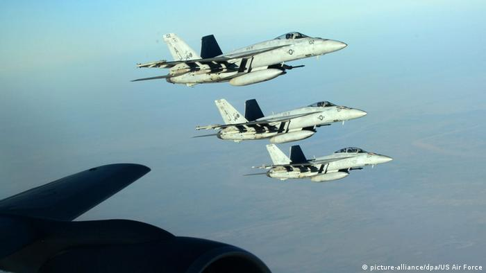 Syrien Luftangriff F-18 Anti-IS Koalition