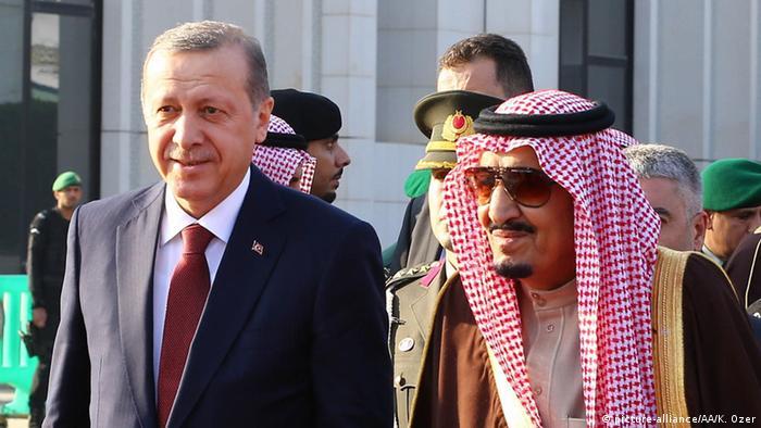 Erdogan und König Salman in Riad (Foto: picture-alliance)