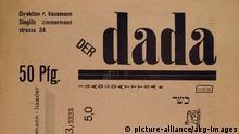 Titelblatt Zeitschrift Der Dada 1919