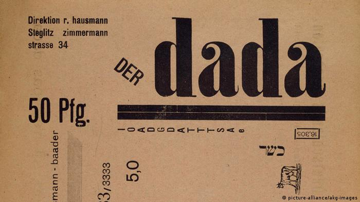 1919 magazine frontpage The Dada