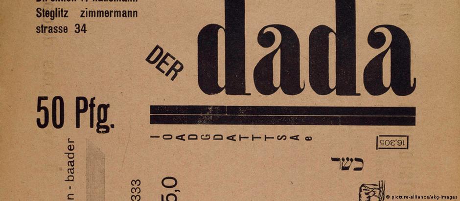 """Capa da revista berlinense """"Der Dada"""", de 1919"""