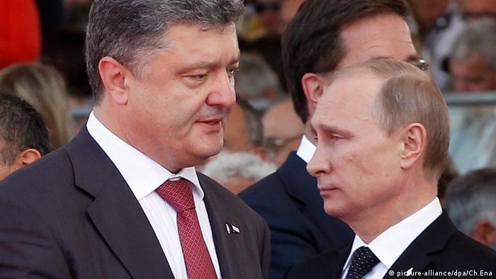 Petro Poroshenko and Vladimir Putin (picture-alliance/dpa/Ch.Ena)