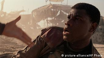 Actor John Boyega as Finn in Star Wars - The Force Awakens