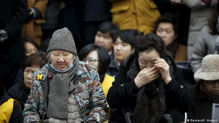 Südkorea Protest ehemaliger comfort women gegen Abkommen mit Japan