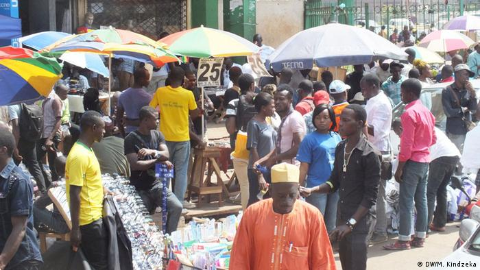 A market scene in Yaounde.