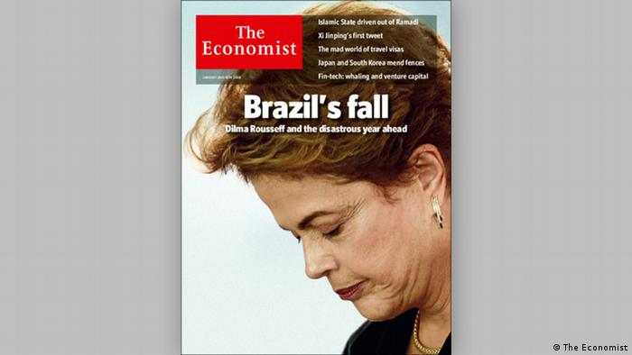 Cover The Economist 2016 Brasilien Präsident Dilma Rousseff