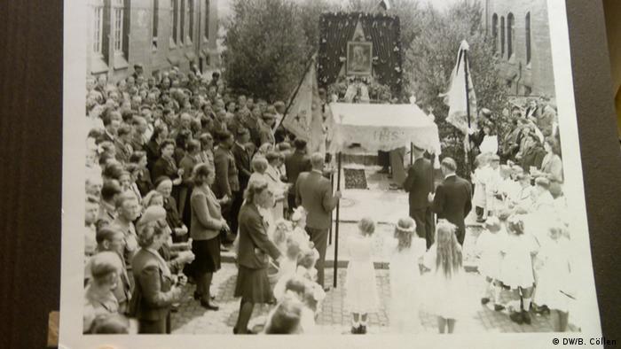 Boże Ciało w 1946 roku w obozie dipisów Hanower Münden