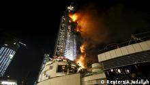 Address Hotel Dubai Arabische Emirate Feuer Brand
