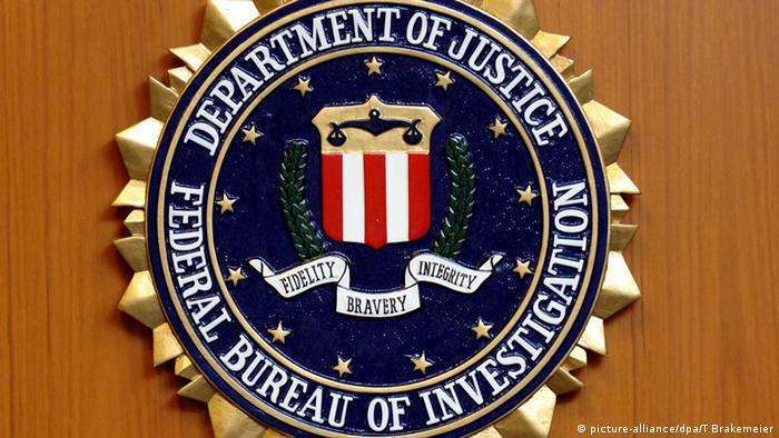Federal Bureau of Investigation Wappen Logo FBI USA (picture-alliance/dpa/T.Brakemeier)