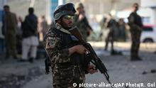 Afghanistan Kabul Polizei Symbolbild Terror (picture-alliance/AP Photo/R. Gul)