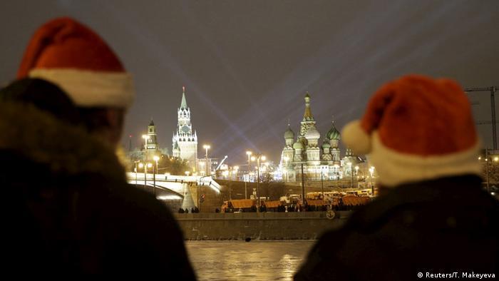 Moskau Kreml Sylvesterfeuerwerk