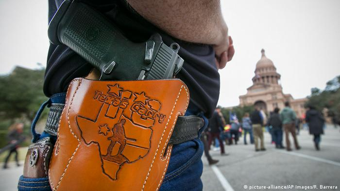 A man with a Texas holster