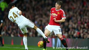 Fussball Manchester United gegen Swansea City