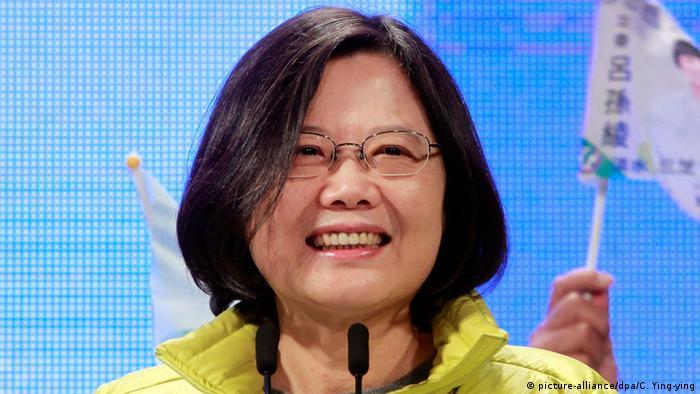 Taiwan Präsidentschaftswahlen Tsai Ing-wen (picture-alliance/dpa/C. Ying-ying)