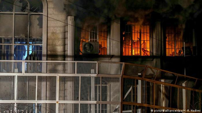Посольство Саудівської Аравії в Тегерані під час заворушень