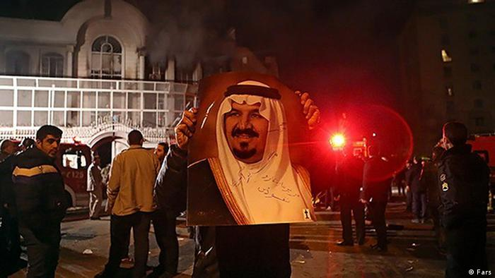 Saudi Arabien Botschaft Iran Protest