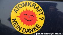 Deutschland Aufkleber Atomkraft? Nein Danke