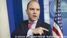 USA Ben Rhodes US-Sicherheitsberater in Washington (picture alliance/AP Photo/P. Martinez Monsivais)