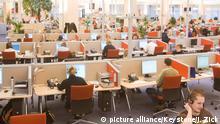 Deutschland Großraumbüro Callcenter in Berlin