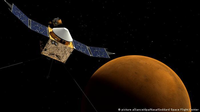 مركبة فضائية تابعة لوكالة ناسا تدور حول المريخ