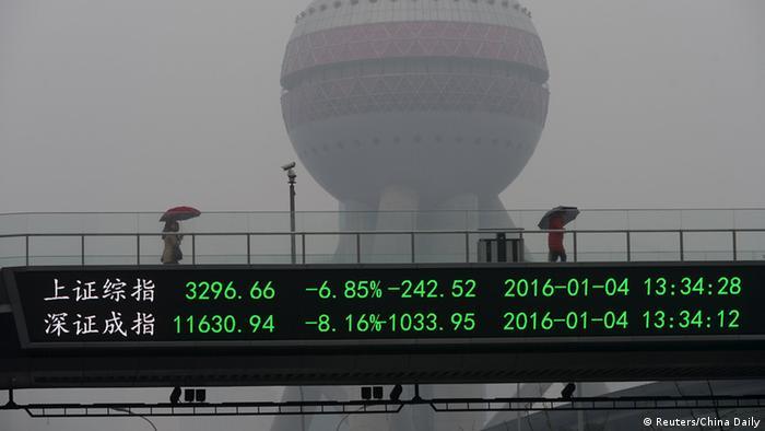 China Börsencrash Shanghai
