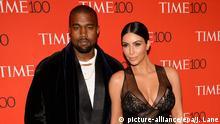 USA Kim Kardashian und Kanye West