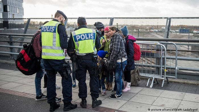 Dänisch-Schwedischer Grenzübergang Kontrolle