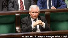 Jaroslaw Kaczynski leader of the conservative Law and Justice party during a session of the Polish parliament at night 29-30 December 2015 in Warsaw, Poland. (Photo by Mateusz Wlodarczyk/NurPhoto) (c) picture-alliance/NurPhoto/M. Wlodarczyk