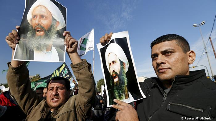 Protests in Iraq against Saudi Arabia's arrest of Nimr Al-Nimr (Reuters/T. Al-Sudani)