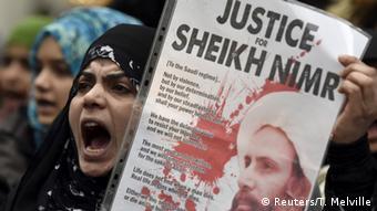 Großbritannien Proteste gegen die Hinrichtung von Nimr Al-Nimr in Saudi Arabien